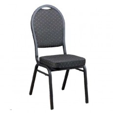 CGA-CY02-IN2 Chaise empilable noir mouchete