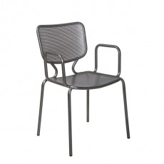CMG-15071 Fauteuil en metal empilable galvanise
