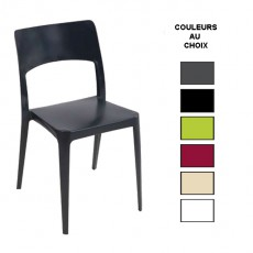 CPG-546 Chaise empilable de couleur en polypropylene