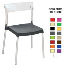 CPG-771 Chaise polypropylene polycarbonate empilable couleur au choix