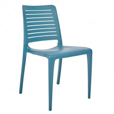 CPZ-P091-BLEU Chaise contemporaine empilable en polypropylène couleur bleu