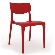 CPZ-T094-R Chaise polypropylene de style contemporaine couleur rouge