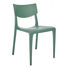 CPZ-T094-V Chaise polypropylene de style contemporaine couleur vert