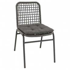CRM-2116-G Chaise empilable tressage pe gris structure alu