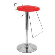 CSY-036-R-DESTOCK Tabouret de bar design rouge DESTOCKAGE