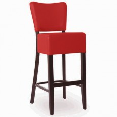 CZH-2305-R  Chaise de bar en bois rembourree couleur rouge