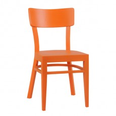 CZH-X04-O Chaise brasserie avec barres de renfort couleur orange