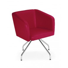 NS-HELLO-2R Fauteuil d'accueil rouge