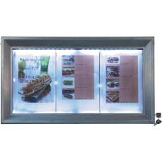 SMCS-3A4CS Porte-menu mural 3 pages A4 format paysage