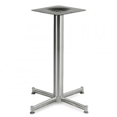 PCH-07 Pied de table en inox brossé à 4 branches arrondies
