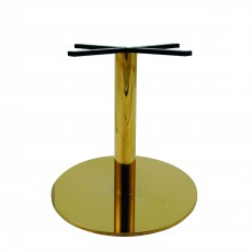 PCO-18-72 Pied de table en or brillant base 72cm ultra plat hauteur 72cm