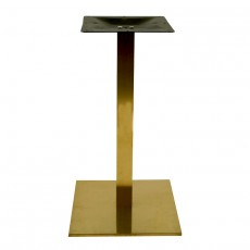 PCO-19-40 Pied de table en or brillant base carree ultra plat