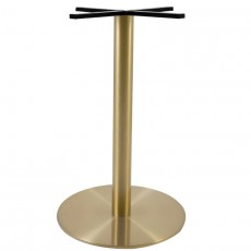 PCO-C18-50 Pied de table en or champagne base ronde ultra plat hauteur 72cm
