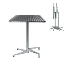 Table terrasse restaurant pliante table de lit a roulettes for Table exterieur pliante