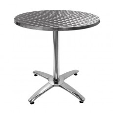 TRA-48R Table terrasse fonte/inox