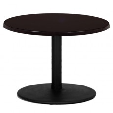 T15R Table de restaurant - base ronde en fonte noir avec plateau ronde de grande dimension