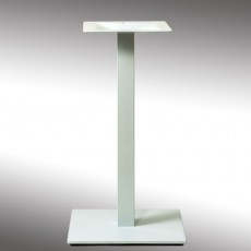 PZN-21-40-BL Pied de table base carree en acier blanc ultra plat