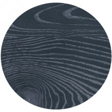 LSMR-0210-60 Plateau stratifié moulé black sea rond 60 cm
