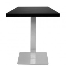 T17C45 Table de restaurant - base carrée avec bords arrondis - finittion et dimension plateau au choix