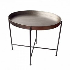TBR-938 Table ovale hauteur 56 cm en metal silver