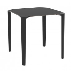 TPZ-420-N Table carree empilable noir en polypropylene dimension au choix