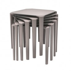 TPZ-420-T Table empilable plateau compact et structure couleur taupe