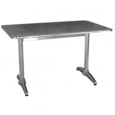 TRA-13C Table terrasse rectangulaire alu/inox