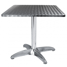 TRA-43C70 Table terrasse alu/inox 70x70 cm