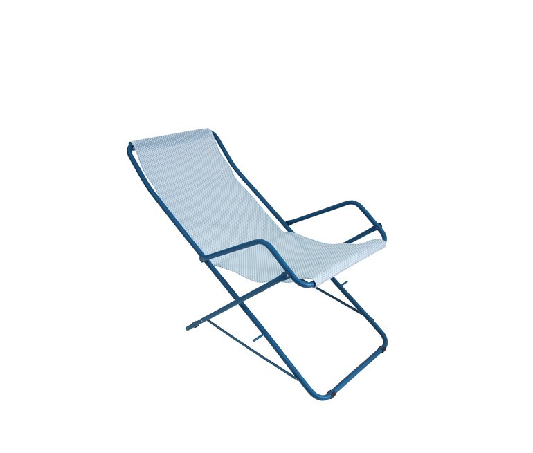 Chaise longue pliante m tal et textyl ne cmu 170 one for Chaise longue aluminium pliante