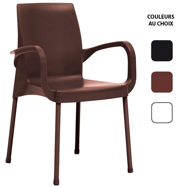 fauteuil de terrasse en polymere polypro empilable couleurs au choix cpz o090 one mobilier. Black Bedroom Furniture Sets. Home Design Ideas