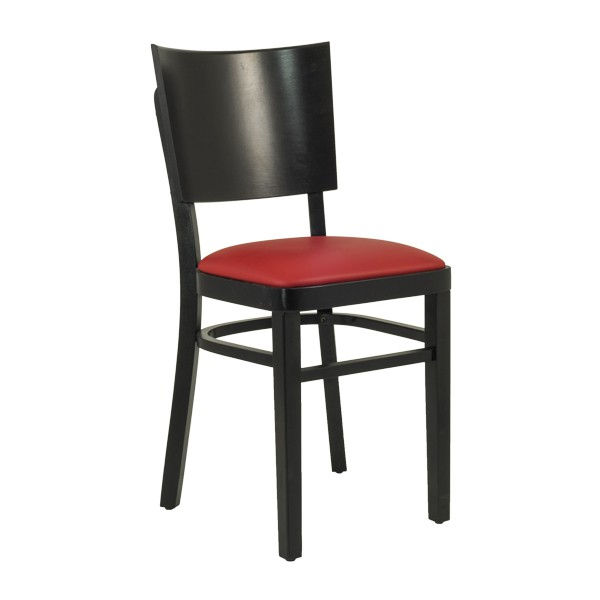 Chaise bistrot en bois assise rembourr rouge czh 607 r - Chaise bistrot en bois ...