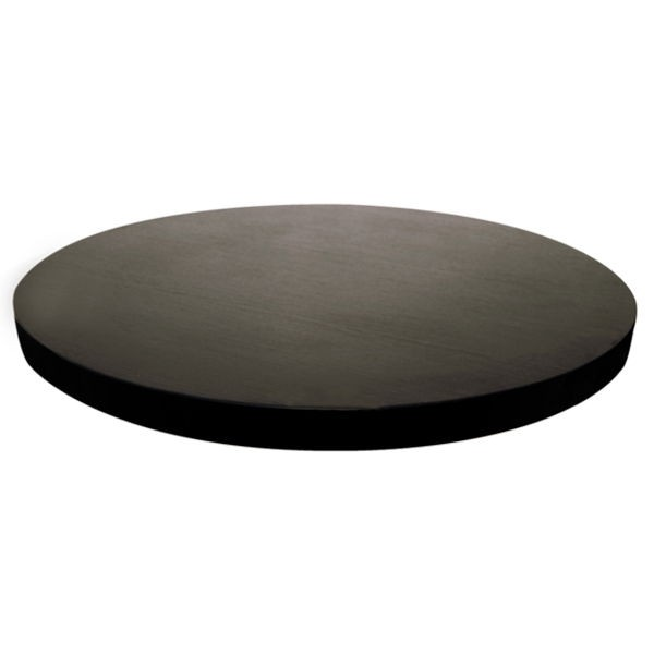 Plateau de table rond m lamin noir lyr 40 60 one mobilier for Plateau rond pour table