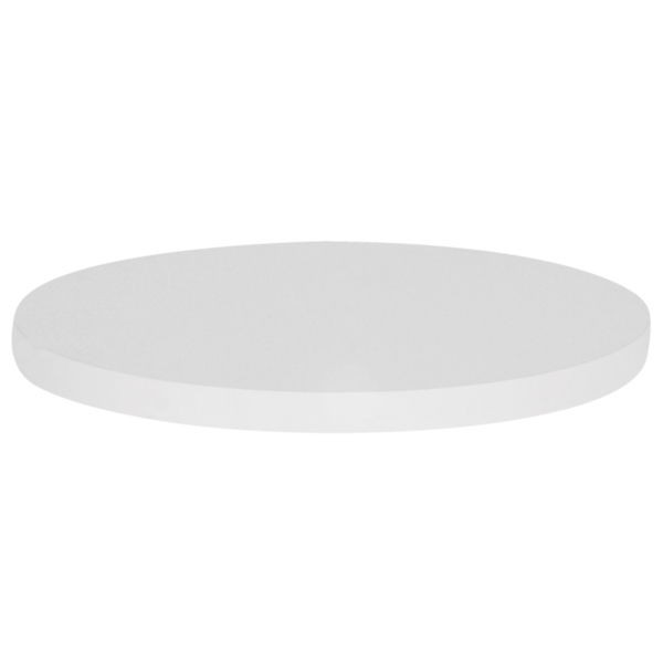 plateau de table rond m lamin couleur blanc lyr 82b 120 one mobilier. Black Bedroom Furniture Sets. Home Design Ideas