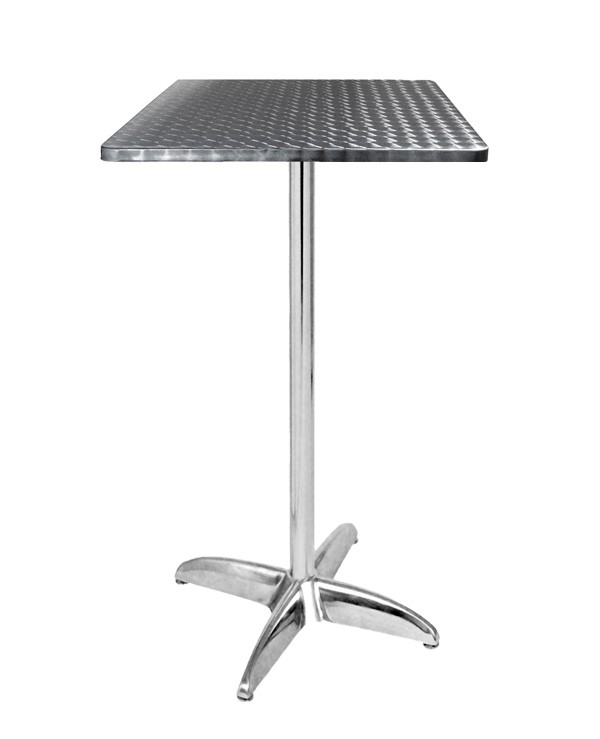 Table haute terrasse alu inox tra 256ct60 one mobilier for Table en aluminium exterieur