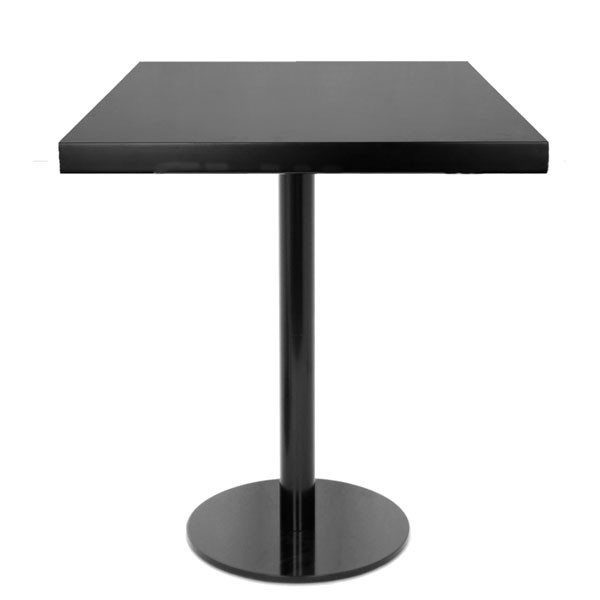 table de restaurant 60x60 cm base ronde ultra plat en