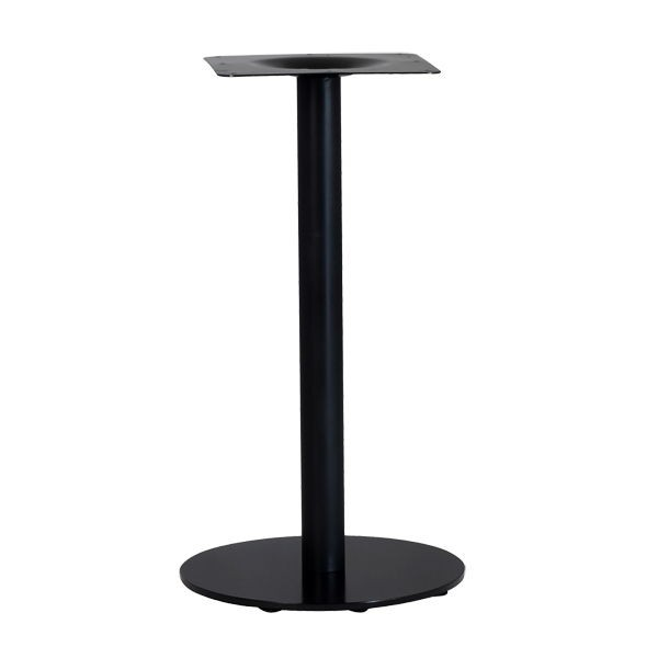 pied de table base ronde en acier noir ultra plat pzn 20. Black Bedroom Furniture Sets. Home Design Ideas
