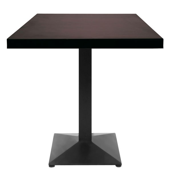 Table de restaurant base carr e pyramidale fonte noire for Table carree 70x70 extensible