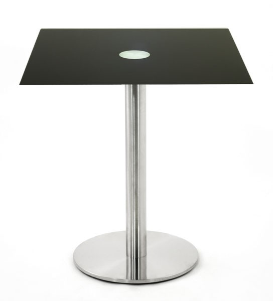 Table hauteur 65 cm en verre noir 50x50 cm tbt 50c one for Table 50x50