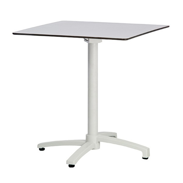 Table pliante et encastrable pied couleur blanc plateau for Table pliante escamotable