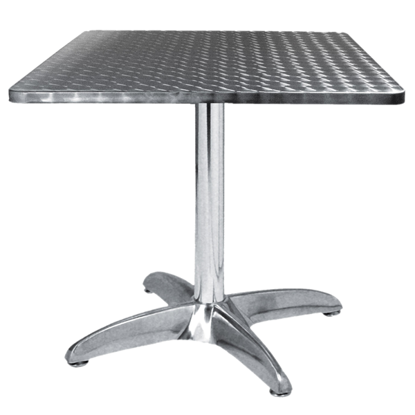 Table terrasse alu inox 70x70 cm tra 43c70 one mobilier - Table bistrot rectangulaire aluminium ...