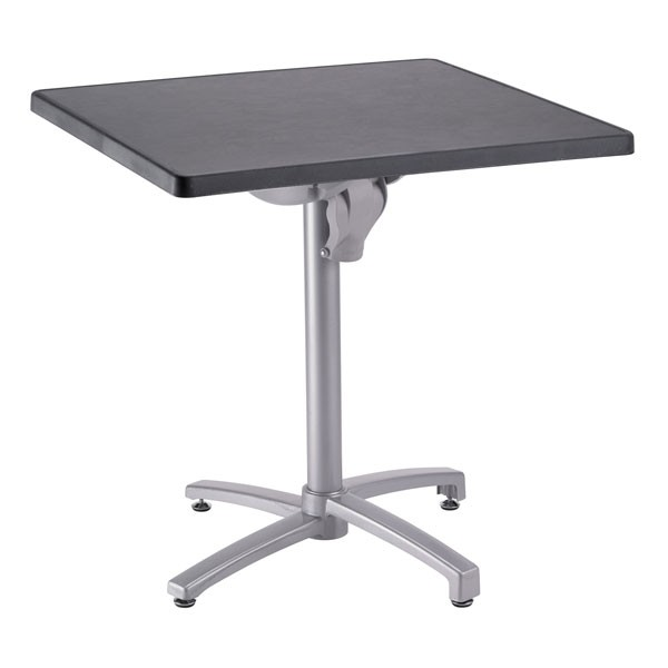 Pied de table encastrable et rabattable en aluminium gris for Table avec tabouret encastrable