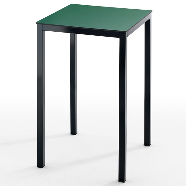 table haute 4 pieds couleur noir plateau au choix tis 50hn one mobilier. Black Bedroom Furniture Sets. Home Design Ideas